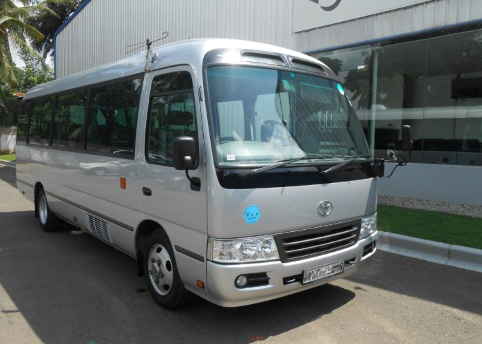 bus for hire with driver in sri lanka  u2013 toyota coaster  28 seating capacity