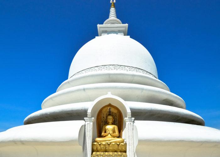 Japanese Peace Pagoda temple