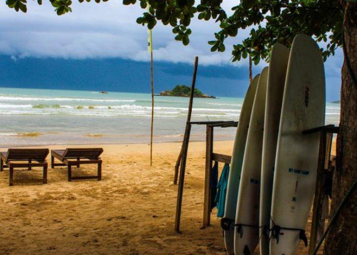 Weligama Beach Lanka serf
